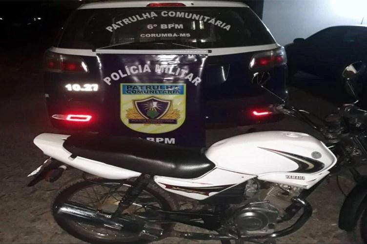 Read more about the article Patrulha Comunitária recupera motocicleta roubada na parte alta de Corumbá