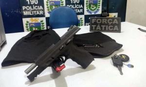 Read more about the article Flagrados com arma de fogo, cinco são detidos e encaminhados para delegacia