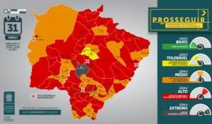 Read more about the article Mais de 64% dos municípios de Mato Grosso do Sul estão com alto risco de infecção da Covid-19