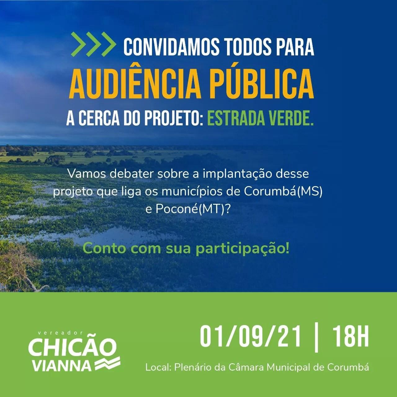 You are currently viewing Audiência Pública debate a estrada que vai permitir ligar Corumbá a Poconé pelo Pantanal