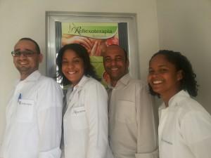 Legenda da foto esq p direita Renato,Tracy, Marcos e Fernanda