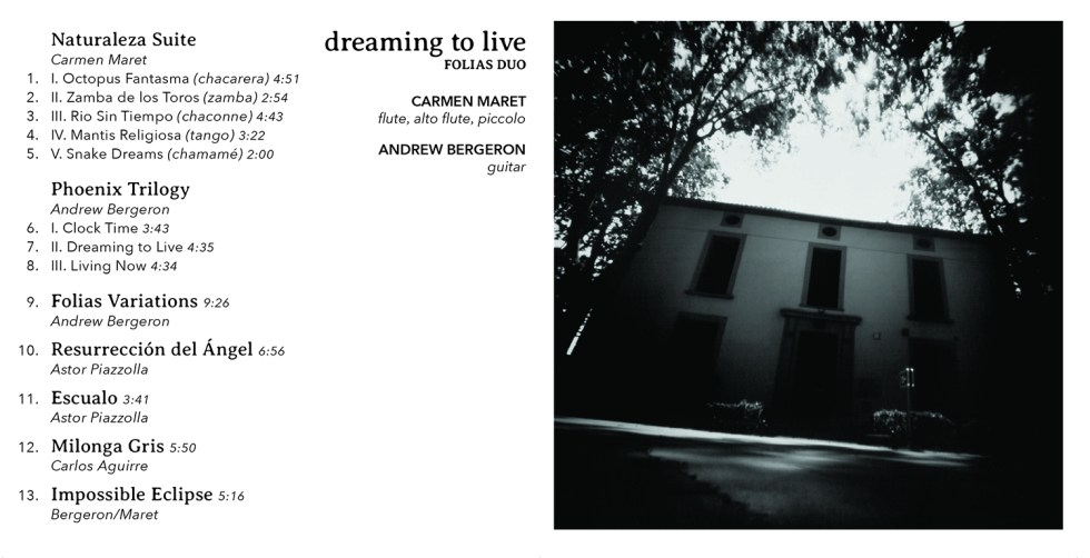 Dreaming to Live Track Listing