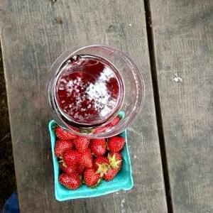 Pinot and strawberries