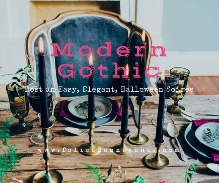 Folie à Deux Events Blog Halloween Party Planning How to host a Modern Gothic Elegant Soiree