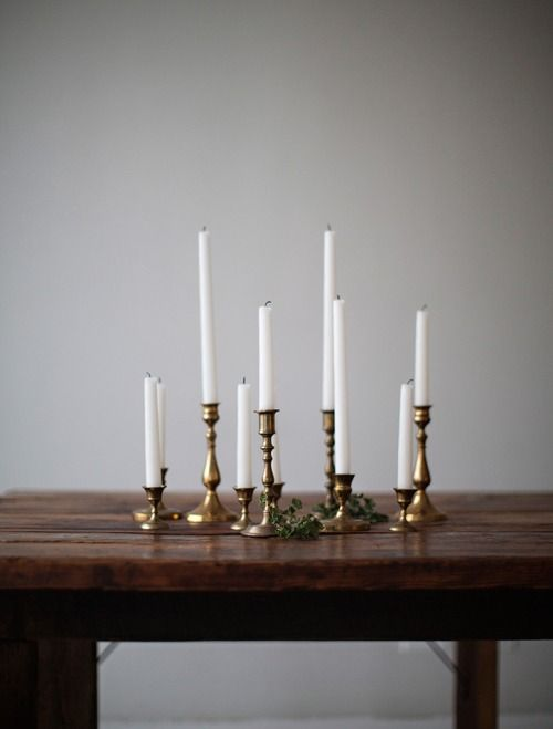 Folie à Deux Events Blog Hallowee Soiree Brass Candlesticks for Halloween Party Decor