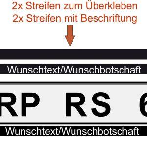 Kennzeichenhalter-Beschriftung