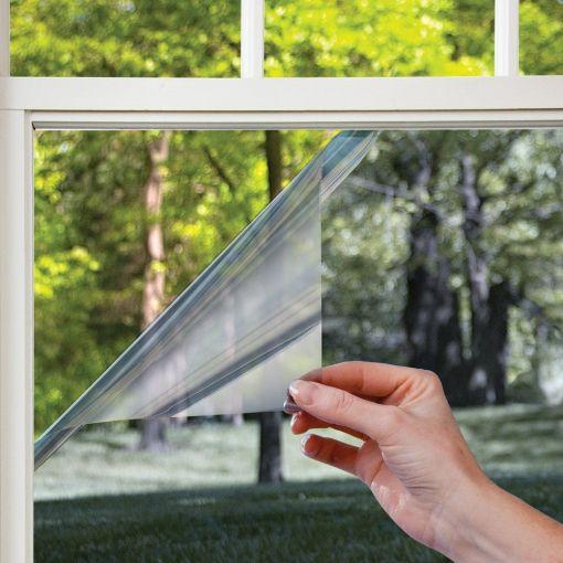 Spiegelfolie op raam