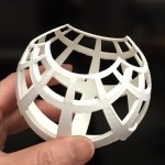 3D print for stereographic projection