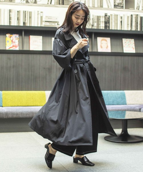 [TOKYO DEPARTMENT STORE] 【SUPERTHANKS】GATHER SLEEVE TRENCH COAT ST183JK008A