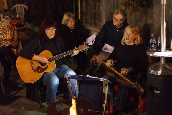 Campfire singalong at Iron Post