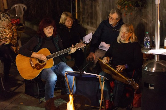 Campfire singalong at Iron Post