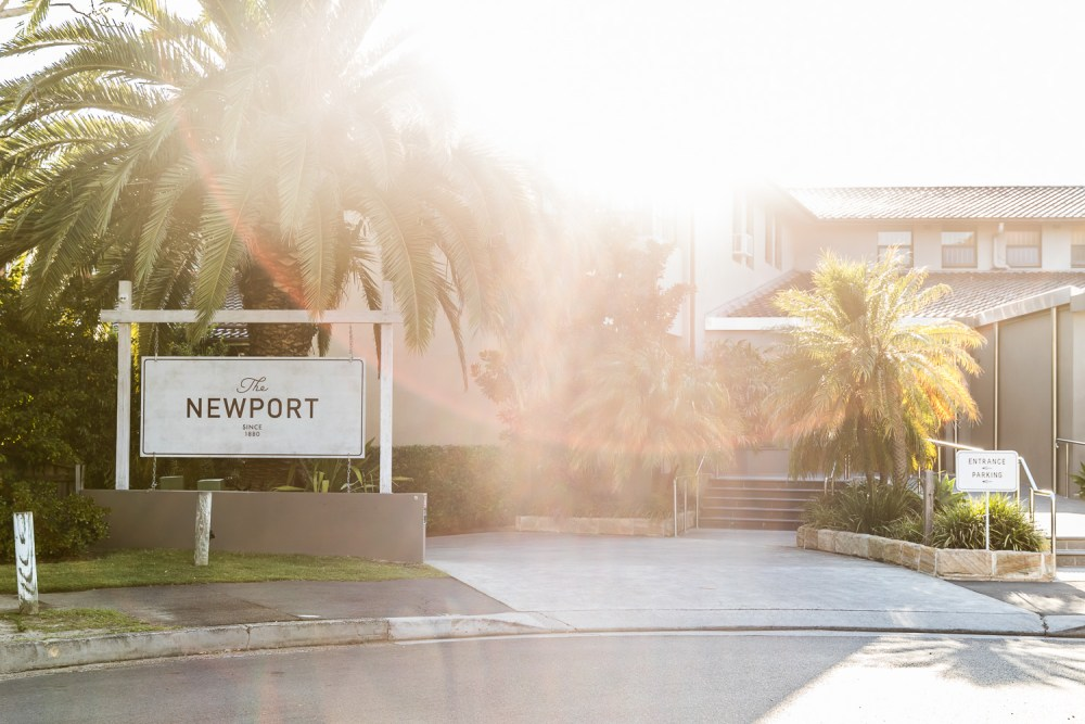 Beach day at The Newport; brand identity design by Folke Army