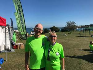 Tina and Grahame Eke at the Purbeck Running Festival