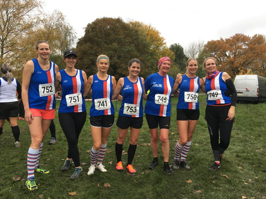 Folkestone RC Ladies team at Kent Cross Country League