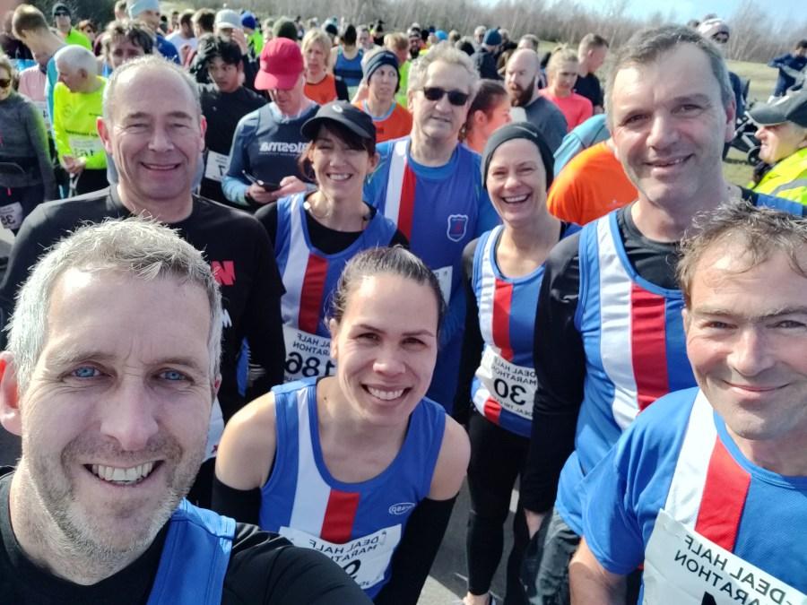 Folkestone Runners at the Deal Half Marathon