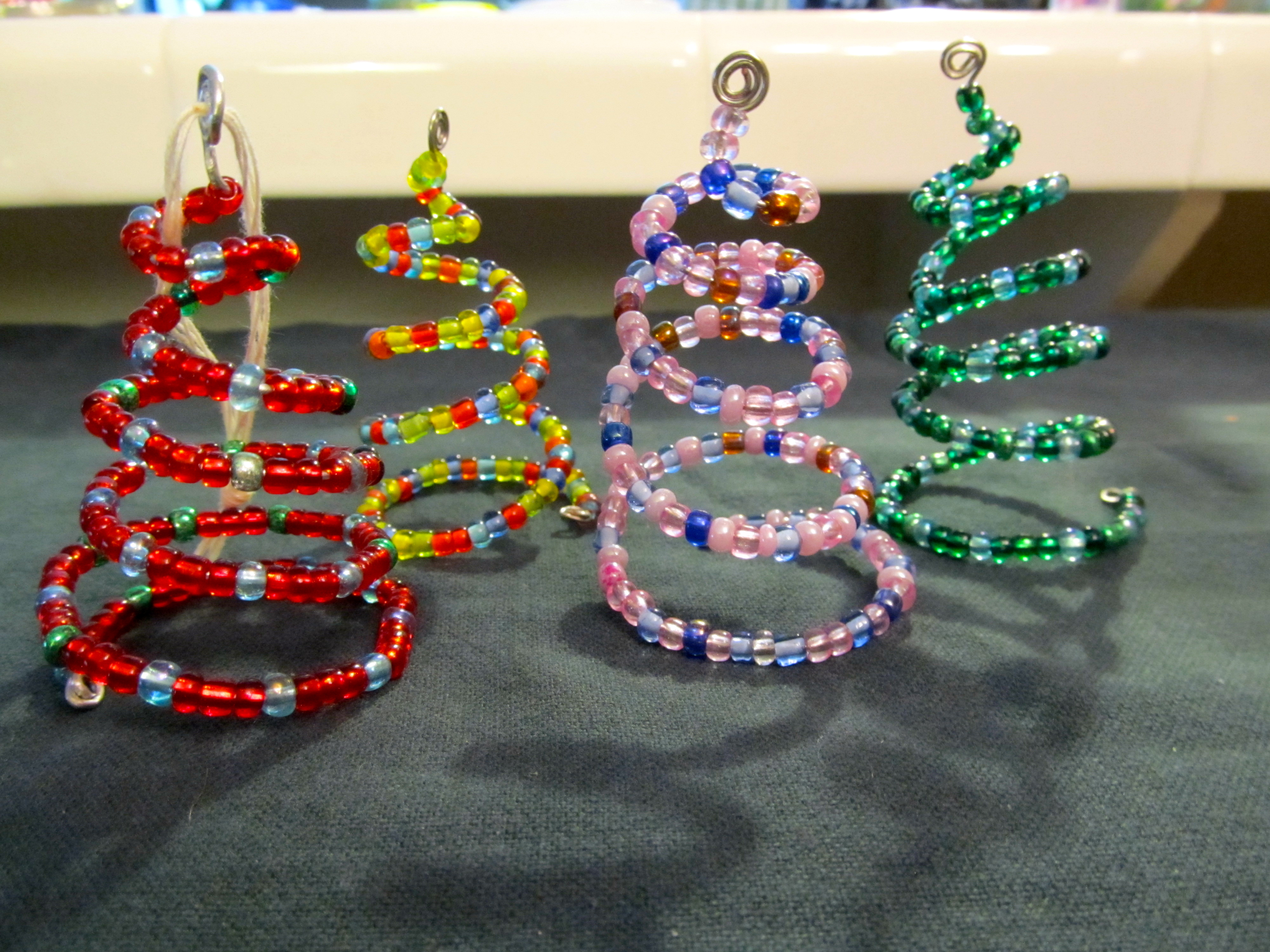 Making Christmas Decorations With Beads