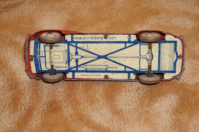 Hubley Kiddie Toy Car Packard Coupe Diecast w/Tin Chassis,Hubley,Vintage Toy,Toy,Antique Toy