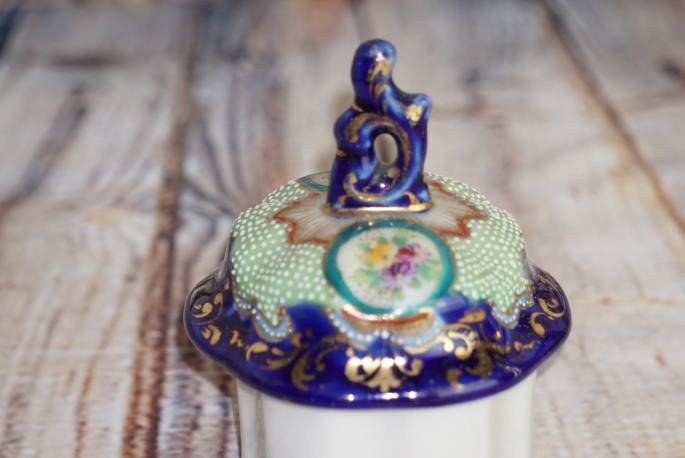 Beautiful Cobalt Beaded Nippon Chocolate Coffee Pot Gold Gilted