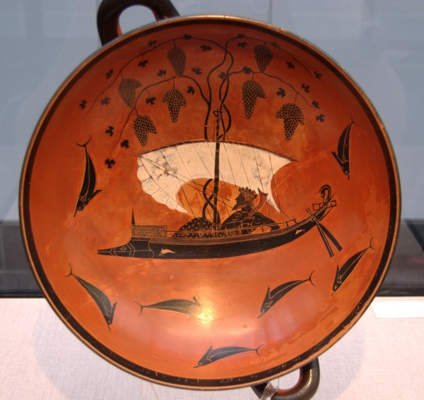 Dionysus turned pirates into dolphins, as shown in this vase painting of a scene from the Homeric Hymn. https://commons.wikimedia.org/wiki/File:Exekias_Dionysos_Staatliche_Antikensammlungen_2044_n2.jpg