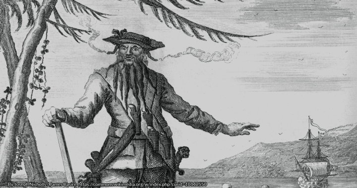 Blackbeard the Pirate https://commons.wikimedia.org/w/index.php?curid=10112550