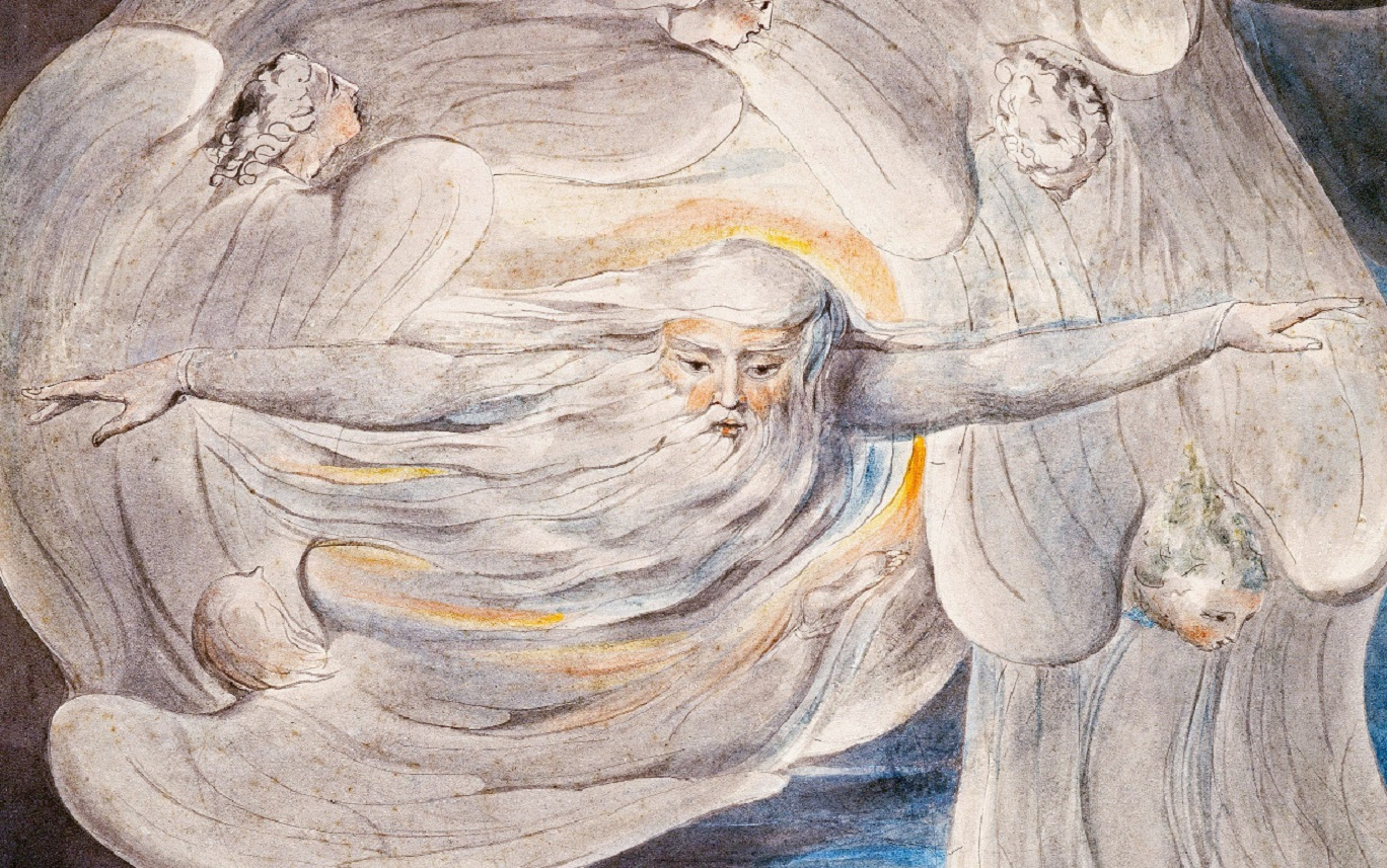 God answers Job from the Whirlwind by William Blake https://commons.wikimedia.org/wiki/File:God_answers_Job_from_the_Whirlwind_1803-05_(Butlin_461),_detail.jpg