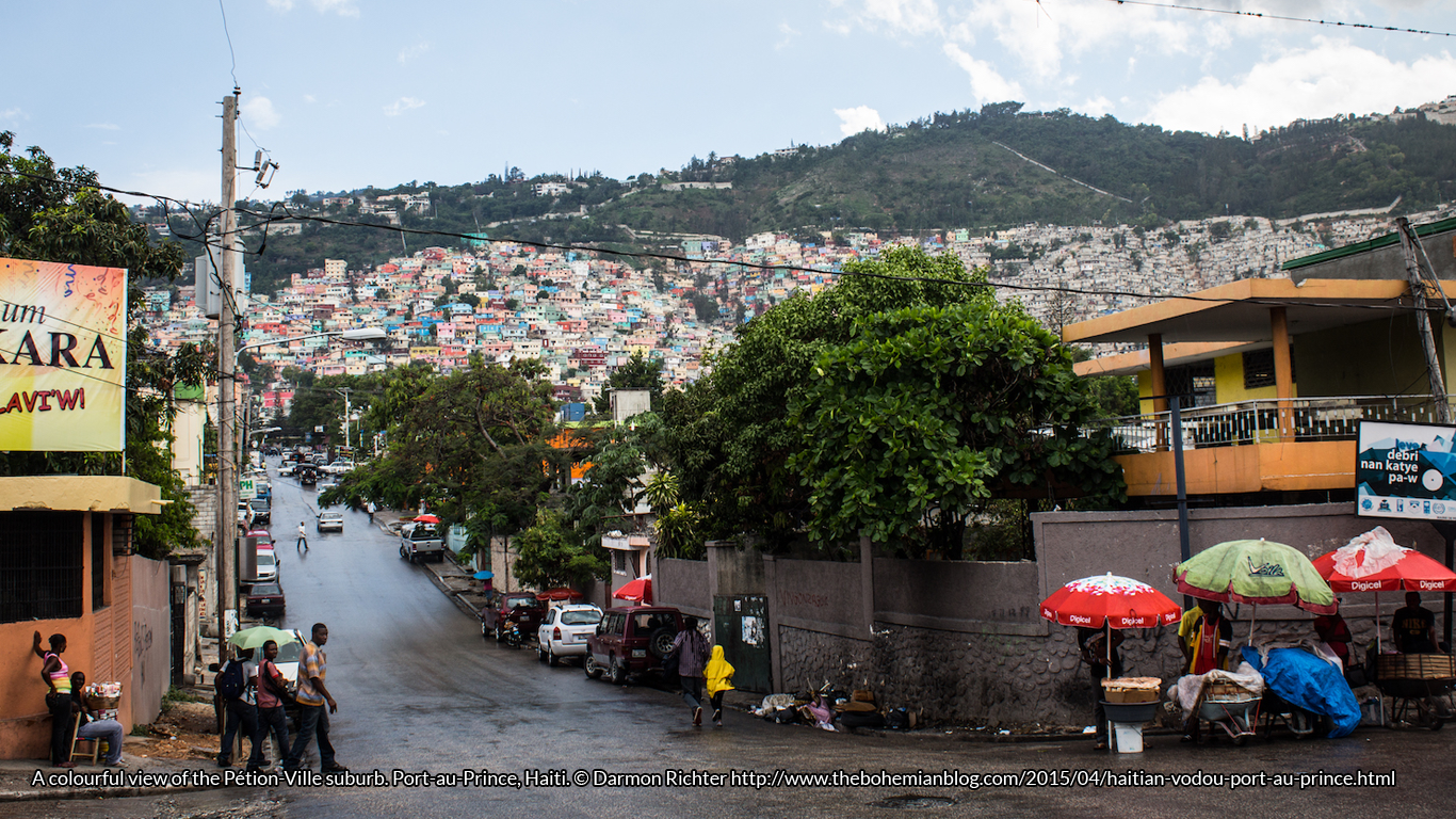 A colourful view of the Pétion-Ville suburb. Port-au-Prince, Haiti. © Darmon Richter http://www.thebohemianblog.com/2015/04/haitian-vodou-port-au-prince.html