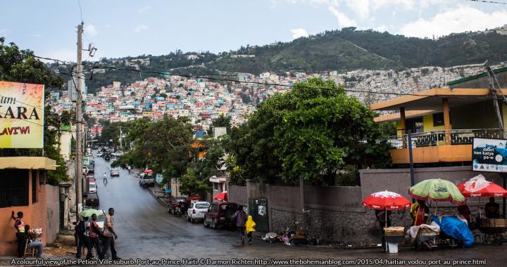 A colourful view of the Pétion-Ville suburb. Port-au-Prince, Haiti. © Darmon Richter http://www.thebohemianblog.com/2015/04/haitian-vodou-port-au-prince.html