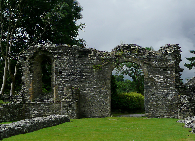 Abbey ruins at Strata Florida, Ceredigion by Roger Kidd