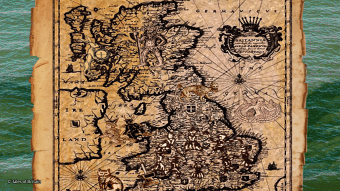 Map of Britain showing folk tales from different areas.
