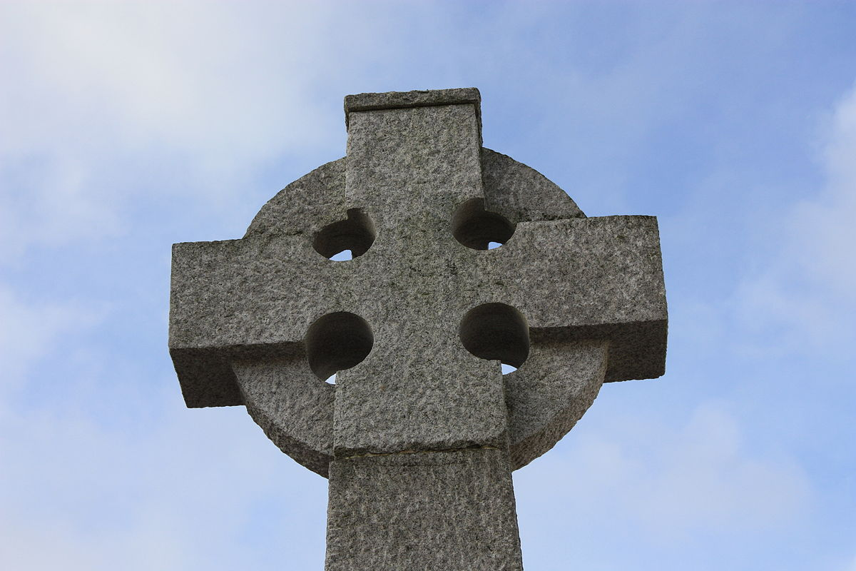 Stone cross munument