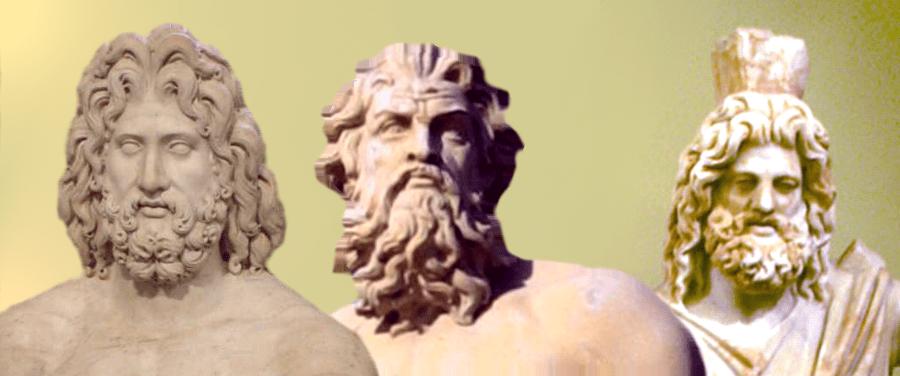 Zeus, Posidon & Hades by FinnBjo; sculpture in Copenhagen Port