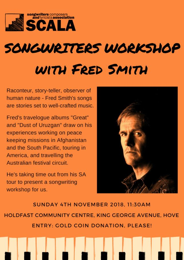 SCALA Songwriters Workshop with Fred Smith