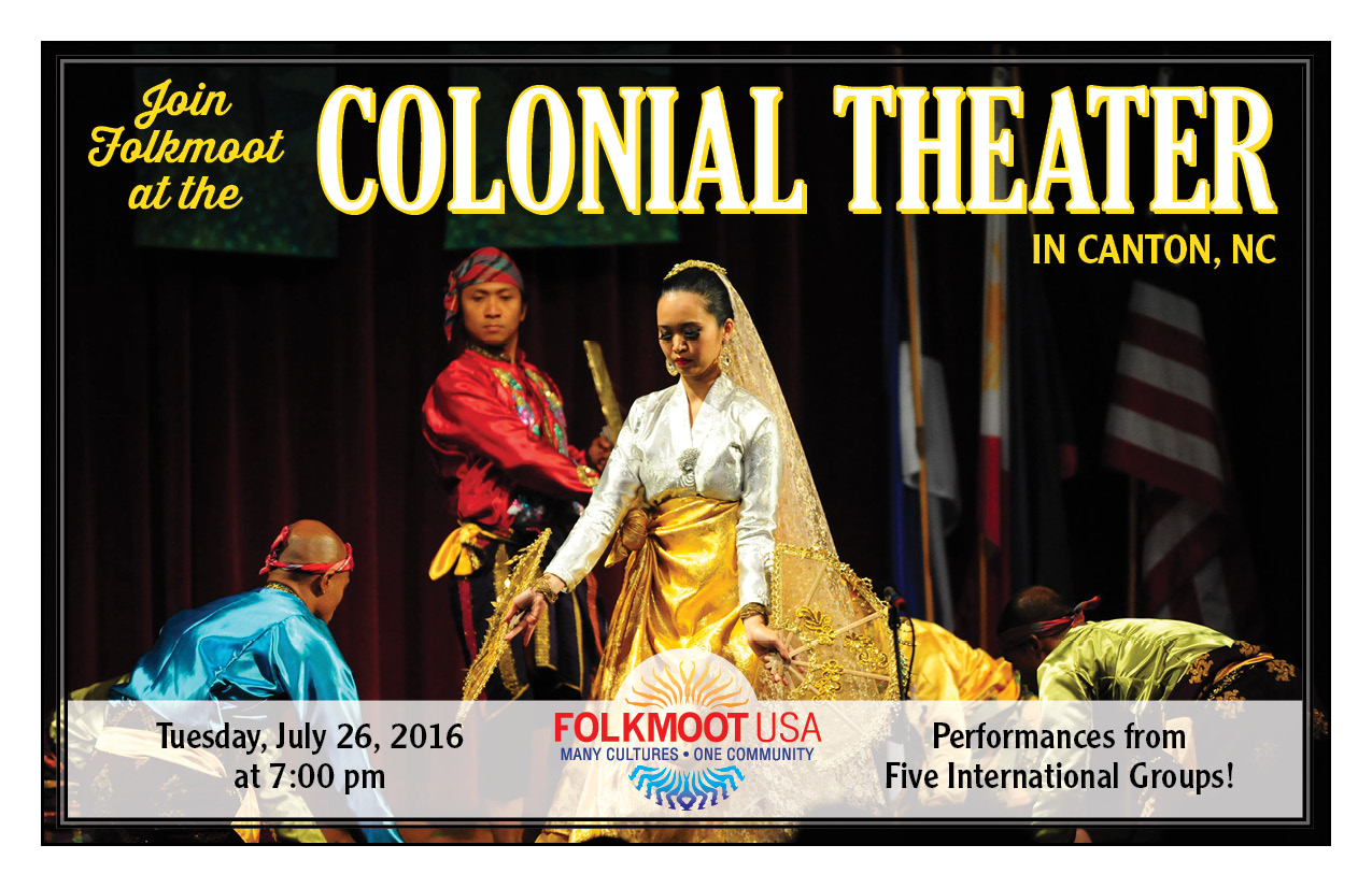 See Folkmoot 2016 at Canton's historic Colonial Theatre