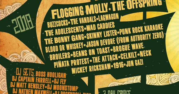 Flogging Molly Cruise 2020.Flogging Molly Announce Dates And Lineup For 2018 Salty Dog