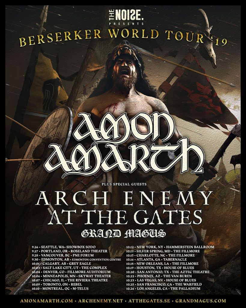 Amon Amarth Tour 2019