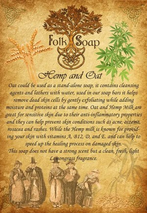 hemp and oat therapeutic soap bar
