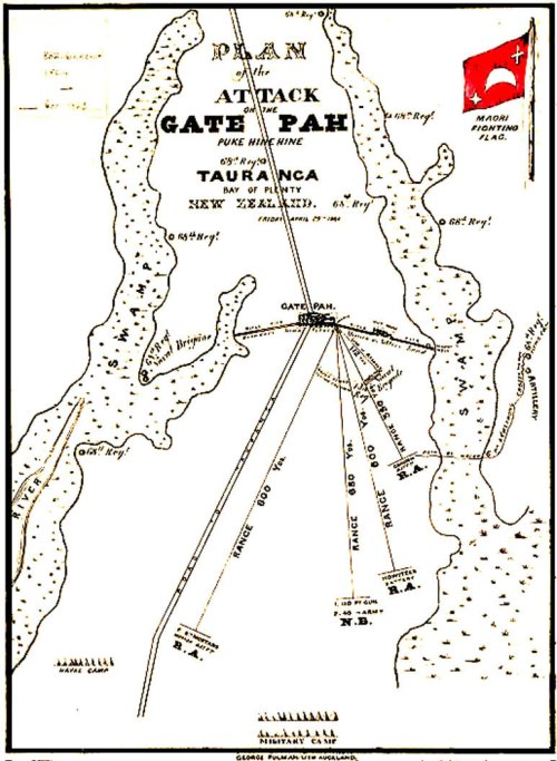 small resolution of  while the maoris lost 25 killed and an unknown number wounded gate pa was the scene of the strongest artillery barrage mounted during the maori wars