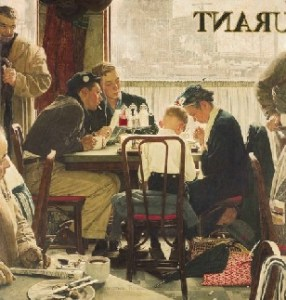 """Saying Grace"" Norman Rockwell"