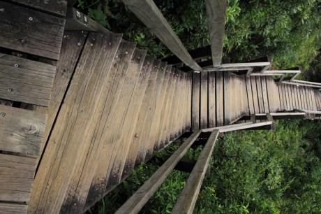 棧道最為陡峭的一段