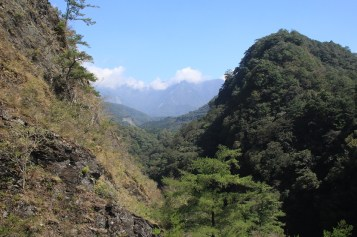遠眺中央山脈風景