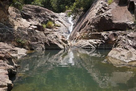 小潭瀑的倒影也很美
