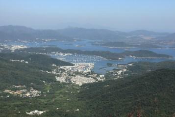 東望西貢海的景色