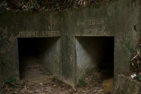 通往機槍堡的地下隧道