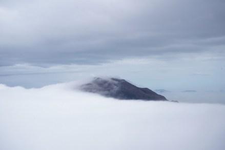 被雲海覆蓋的大東山