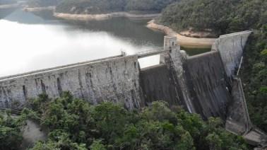 大潭中水塘水壩