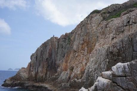 百呎崖,頂部末端便是劍脊