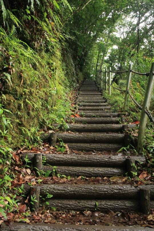 前往比地大瀑布的步道
