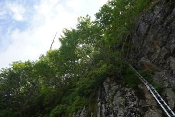 最後一段登山梯子