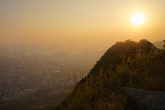 有獅子山上看夕陽