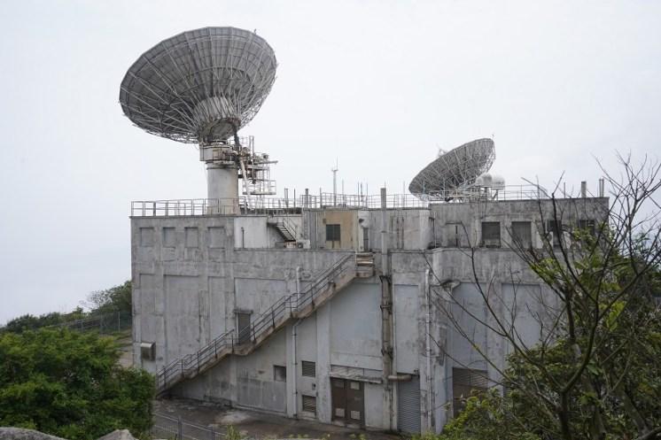 山頂的衛星通訊站
